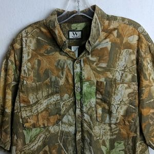 Walls size large vented camo men's shirt